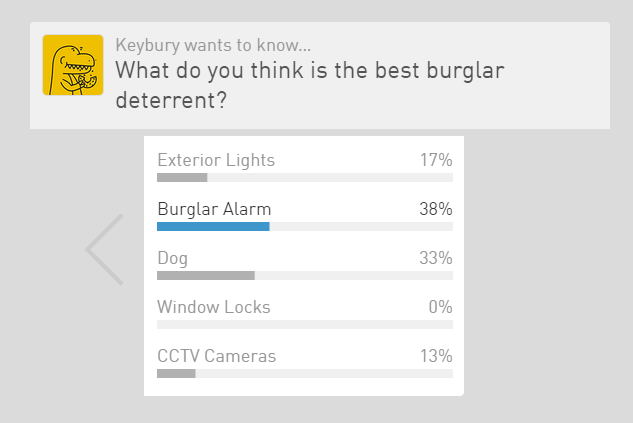 keybury opinion poll what is the best burglar deterrent home security