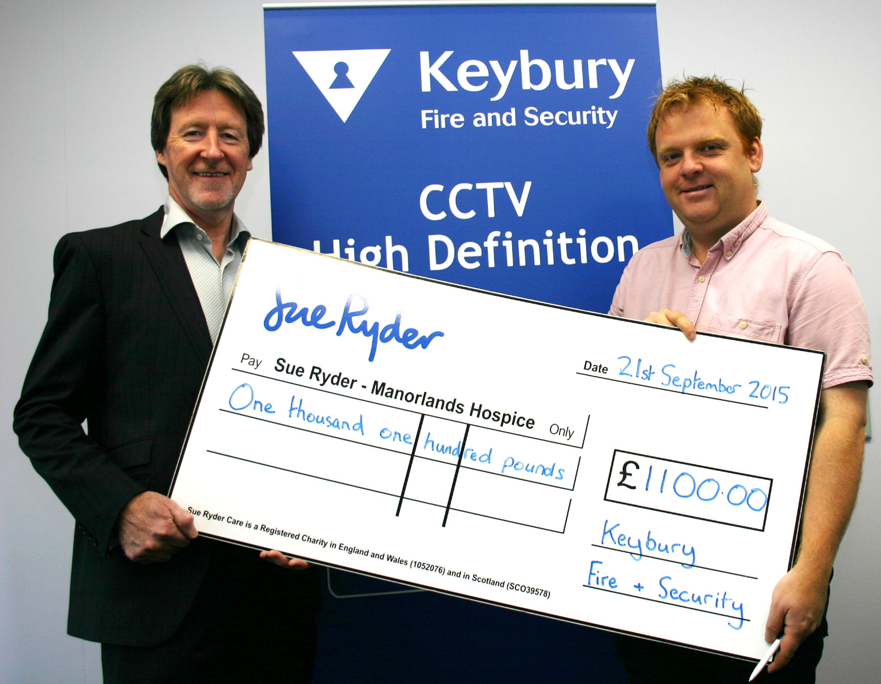 Keybury Charity Challenge Manorlands Cheque Presentation pic